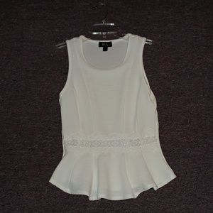 BCX peplum with lace center top